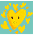YellowHeart vector image vector image