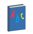 abc book icon flat cartoon style isolated on vector image
