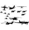 aircraft collection - vector image