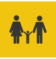 Parents and child vector image
