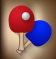 ping pong rackets and ball vector image
