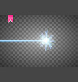 abstract blue laser beam isolated on transparent vector image vector image