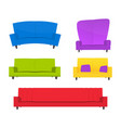 abstract creative funny cartoon sofa set isolated vector image vector image