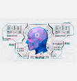 advanced ai from futuristic hud interface facial vector image vector image