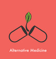 alternative medicine logo vector image vector image