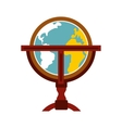 Antique earth globe icon vector image