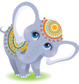 baby elephant isolated on white background vector image vector image