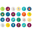 Barbershop round icons set vector image vector image