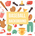 baseball seamless background vector image