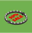 bear trap with red word sale vector image