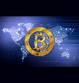 bitcoin symbol technology concept background vector image
