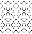 Black and white arabic traditional geometric vector image