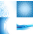 blue backgrounds set vector image