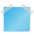 blue post it vector image vector image