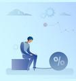 business man chain bound legs credit debt finance vector image vector image