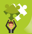 business people work vector image vector image