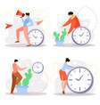 business time management flat concept vector image