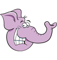 Cartoon Elephant Head vector image vector image