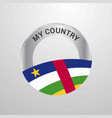 central african republic my country flag badge vector image