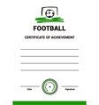 Certificate Template Football vector image