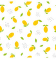 childish seamless pattern with bright lemons vector image vector image