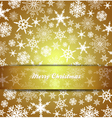 Christmas Card Snowflake Gold Invitation menu vector image vector image