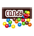 colorful mm candies vector image
