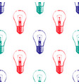 colorful seamless pattern with light bulbs modern vector image vector image