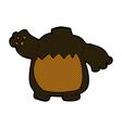 comic cartoon black bear body mix and match comic vector image vector image