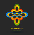 community care logo logo design company vector image