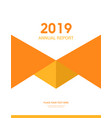 cover design for annual report business catalog vector image vector image