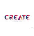 create colored rainbow word text suitable for vector image vector image
