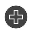 cross medical symbol vector image