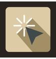 Cursor arrow selection icon flat style vector image vector image