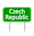 Czech Republic road sign vector image vector image