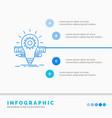 development idea bulb pencil scale infographics vector image vector image