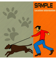 dog walking vector image vector image
