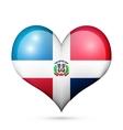 Dominican Republic Heart flag icon vector image vector image