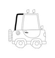 dotted shape tractor farm vehicle plant transport vector image vector image