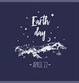 earth day poster typographic 1 vector image