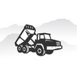 excavator logo template heavy equipment logo for vector image