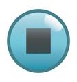 flat black stop button icon vector image vector image