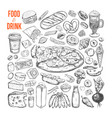 food and drink big set 1 vector image vector image