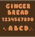 gingerbread cookies alphabet holidays ginger vector image vector image