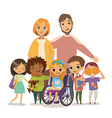Group of Happy Childdren with books and Tutors vector image
