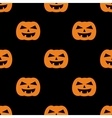 Halloween tile pattern with orange pumpkin vector image