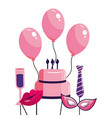 happy birthday cartoon vector image