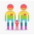 happy gay boy family rainbow icon vector image
