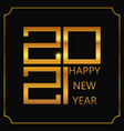 happy new year poster golden 2021 logo vector image vector image