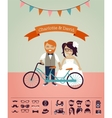 Hipster wedding - design your own invitation card vector image vector image